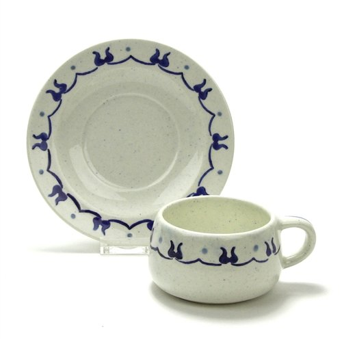 Provincial Blue by Poppytrail, Metlox, Vernonware Cup & Sauc