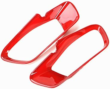 HOTRIMWORLD Red ABS Front Headlight Frame Trim Cover 2pcs