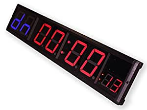 """Eu 4"""" 8 Digits Programmable For Gym Fitness Interval Led Countdown / Up Clock"""