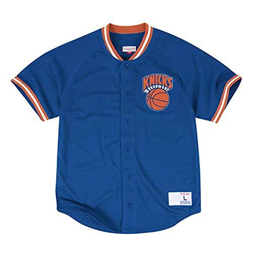(Mitchell & Ness New York Knicks Seasoned Pro Mesh Button NBA Jersey ROYAL (M(40)))