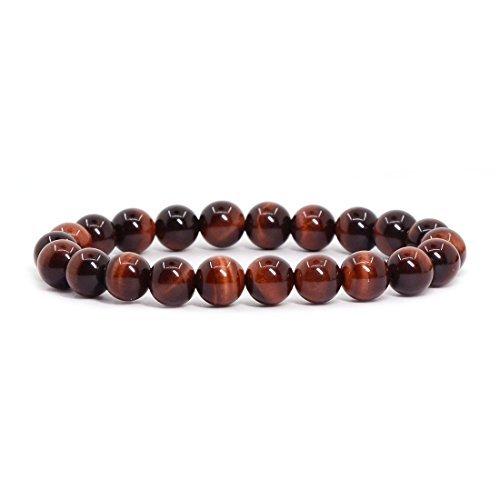 AA Red Tiger Eye Gemstone 8mm Ball Beads Stretch Bracelet 7