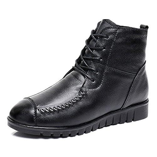 Zapatos Cuero Dafenp Nieve Para De Invierno Mujer Botas Botines l1JFKTc