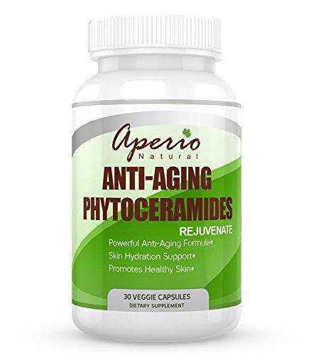 Phytoceramides Anti vieillissement Capsules - 100 % naturel de la peau rajeunissement formule - meilleur hydratant - soins de la peau - favorise une peau saine - réparations dommages du soleil - produit de beauté haut - complément alimentaire