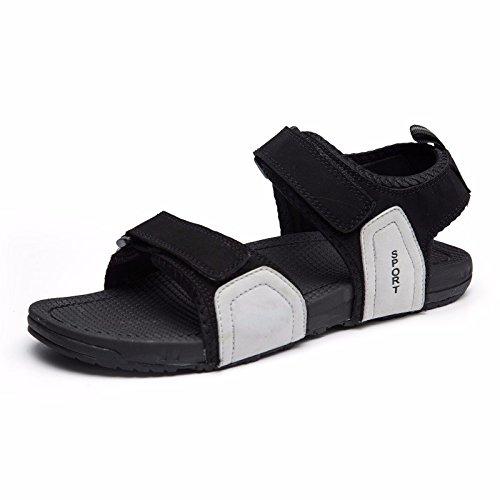 Antiscivolo sandali Uomini alunno Tempo libero tendenza sandali estate Il nuovo all'aperto Spiaggia scarpa Roma scarpa ,grigio,US=7.5,UK=7,EU=40 2/3,CN=41
