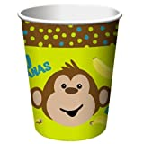 Monkeyin' Around 9oz Cups, 8 count, Health Care Stuffs