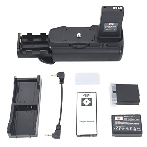DSTE Vertical Battery Grip for Canon EOS 1100D 1200D Rebel T3 T5 With Wireless Remote Control + 2pcs LP-E10 Li-ion Battery