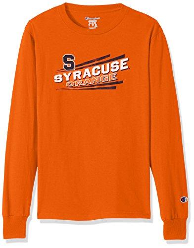 Champion NCAA Syracuse Orange Youth Boys Long sleeve Jersey Tee, Large, - T-shirt Youth Syracuse Orange