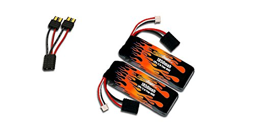 MaxAmps 1850mah 3s LiPo Pair for Traxxas 1/16th Scale Summit, 1/16th Scale E-Revo, 1/16th Scale Slash and 1/16th Scale Rally RC ()