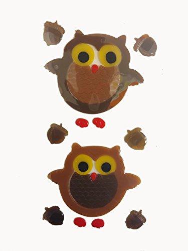 Shopko Owl Brown Gel Window Clings