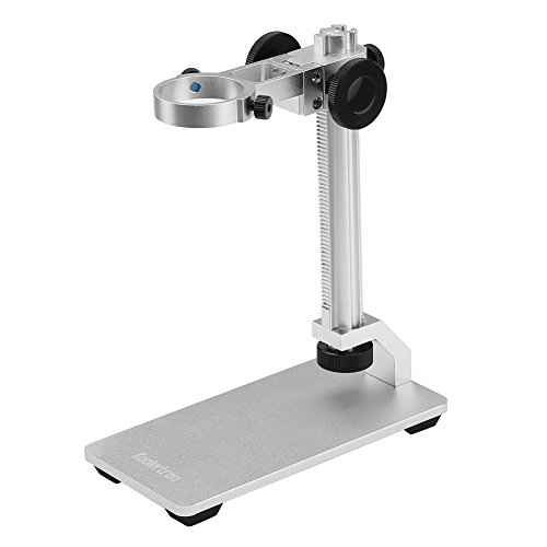 Koolertron Aluminum Alloy Microscope Stand Portable Adjustable Manual Focus Digital USB Microscope Holder Support Adjusted Up and Down by Koolertron