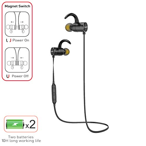 Best Bluetooth Headphones | Wireless Sports Earphones w/Mic | IPX4 Waterproof/Sweatproof HD Stereo Earbuds for Gym, Running, Workout | 10 Hour Battery | Noise Isolation Headsets | HARP Alive