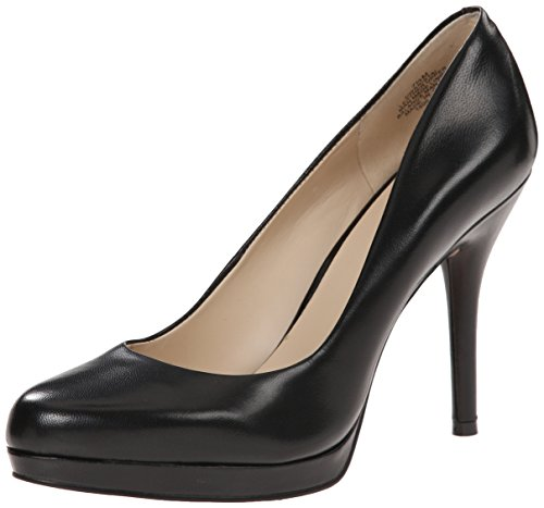 Nine West Women's Kristal Leather Dress Pump, Black Leather, 7.5 M US