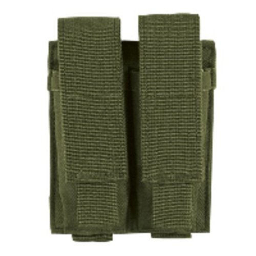Voodoo Tactical MOLLE Compatible Double Pistol Magazine Pouch - Olive Drab ()