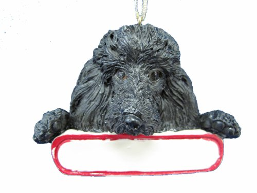 Poodle Black Dog Santa's Pal Christmas Ornament