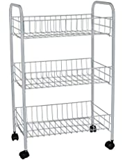 Rubbermaid 3 Tier Store Cart with DBL WHL
