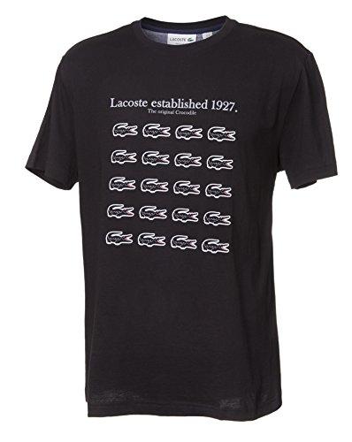 Lacoste Men's Soft Cotton Crew-Neck T-Shirt With Original Crocodile