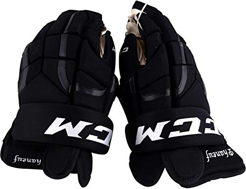 Dion Phaneuf Los Angeles Kings Game-Used #3 Black CCM Gloves from the 2017-18 NHL Season - Fanatics Authentic Certified