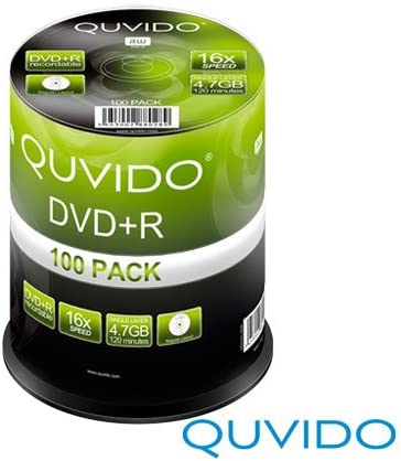 QUVIDO DVD + R 4.7 GB 16 x//Ritek 100 unidades): Amazon.es: Informática