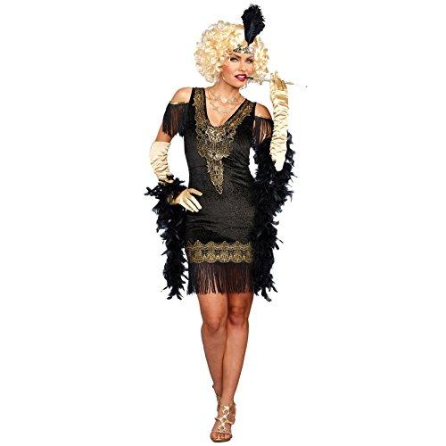 Dreamgirl Women's Swanky Flapper, Black/Gold -