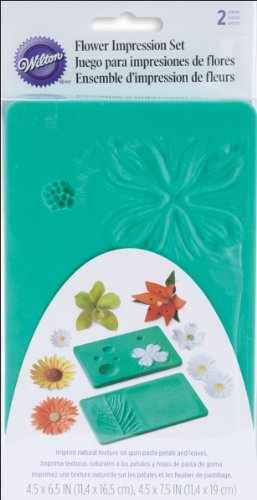 Wilton Flower Silicone (Wilton Flower Impression Mat Set- Discontinued By Manufacturer)