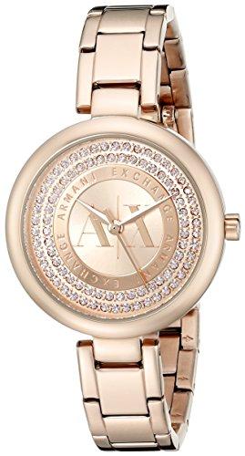 Armani Exchange Women's AX4222 Analog Display Analog Quartz Rose Gold Watch