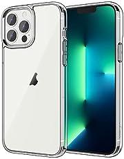 JETech Hoesje Compatibel met iPhone 13 Pro 6,1-Inch, Schokbestendige Bumper Case, Antikras Doorzichtige Achterkant, HD Helder