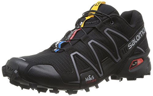 (Salomon Women's Speedcross 3 Black/Black/Silver Metallic-X 8.5 B US)