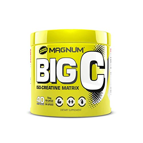 Magnum Nutraceuticals Big C - 200 Capsules - All Natural Creatine - Build Lean Muscle - Increase Strength - Reduce Recovery Time - No Water Retention