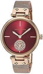 Swarovski Crystal Accented Mesh Bracelet Watch