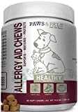 Cheap Paws & Pals Allergy Immune Supplement Aid for Dog & Cats- Antioxident Seasonal and Itchy Relief Treats for Pets with Omega-3, Digestive Prebiotic & Probiotics – 90 Count