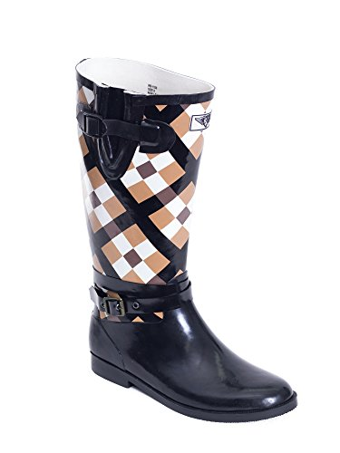 Wellie Young Womens Boot Forever Rain Plaid Rider qPw8xEg