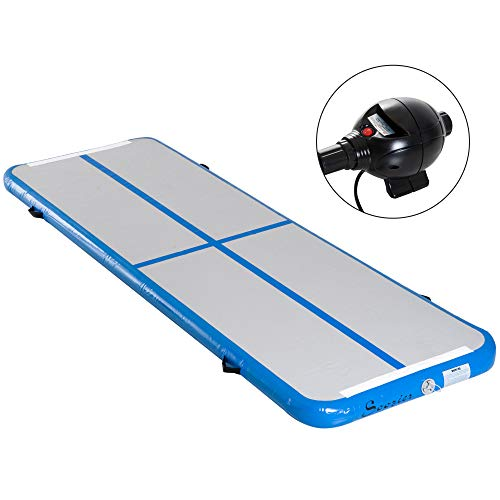 Soozier 10′ Portable Inflatable Air Track Tumbling Gymnastics Yoga Gym Mat