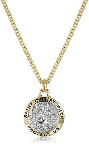 Save on Sterling Silver Mizpah Medal Necklace with Stainl...