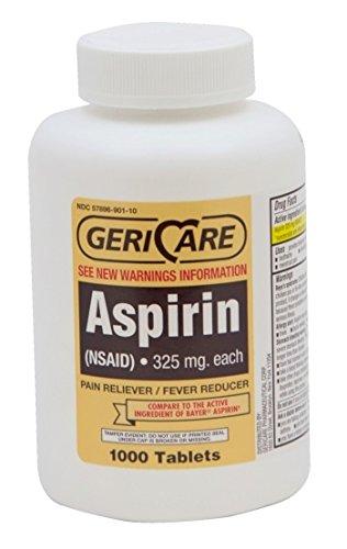 Aspirin 325 Mg Tab - McKesson Aspirin 325Mg Tab Enteric Coated 1000/Bottle - Bottle of 1000 - Model 57896092110