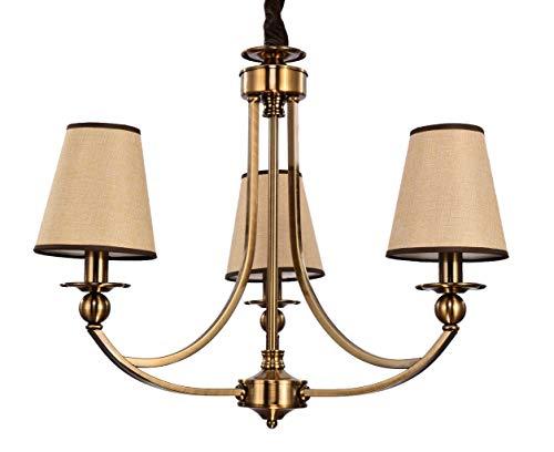 Aiwen Williamsburg 3 Light Chandelier Antique Brass Pendant Lights Ceiling Lighting H20