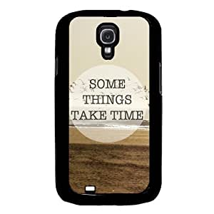 Cool Painting Some Things Take Time Quote Samsung Galaxy S4 I9500 Case Fits Samsung Galaxy S4 I9500