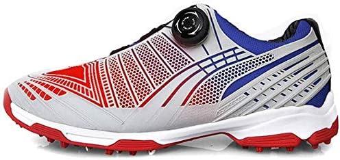 メンズスポーツゴルフシューズ、学生のカジュアル回転シューズアンチスリップ耐摩耗性の靴 (Color : A, Size : 41EU)
