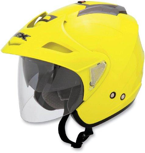 AFX FX-50 Helmet , Size: XS, Helmet Category: Street, Distinct Name: Hi-Vis Yellow, Primary Color: Yellow, Gender: Mens/Unisex, Helmet Type: Open-face Helmets 0104-0972