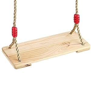 Columpio de madera de abedul placa de bebé Niños Swing para niños juguetes