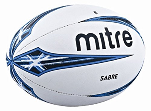 mitre B1102 Sabre Rugby Ball White - Size 5