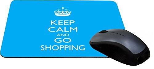 Rikki Knight Keep Calm and Go Shopping - Sky Blue Color Lightning Series Gaming Mouse ()