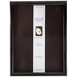 12x16 Shadow Box Wood Frame 15/16 Deep (Black)