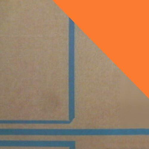 日本製 アクリル板 オレンジマダー (キャスト板) 厚み 2mm 200×200mm 縮小カット1枚無料 カンナ仕上 (業務用・キャンセル不可)