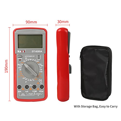 Electronic Volt Amp Ohm Meter Multimeter with Diode and Continuity Test, LCD display,Measures Voltage, Current, Resistance, Capacitance, Frequency by Kaisi (Image #5)