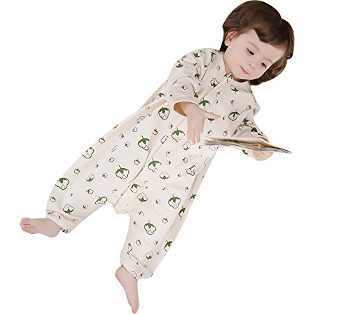 Wearable Condition (Luyusbaby Early Walker Sleeping Bag Organic Cotton Baby Toddler Wearable Blanket, For Summer Large)