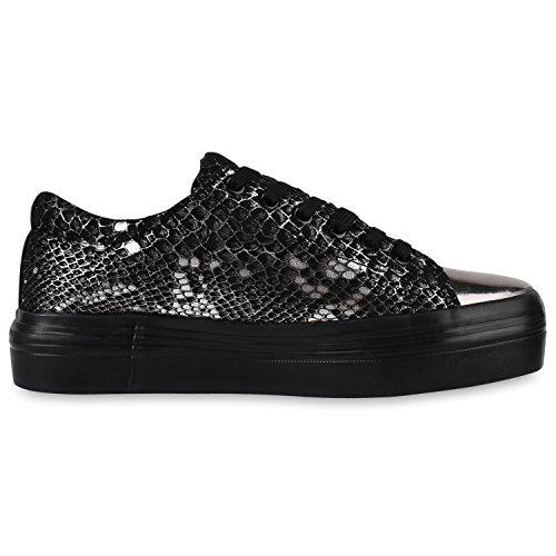 napoli-fashion - zapatos de tacón Mujer Schwarz Snake