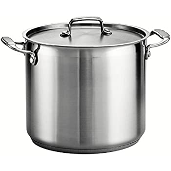 Tramontina 80120/000DS Gourmet Stainless Steel Covered Stock Pot, 12-Quart