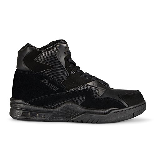 British Knights Mono HI Men's Hi-Top Leather SneakerBlack, 11.0