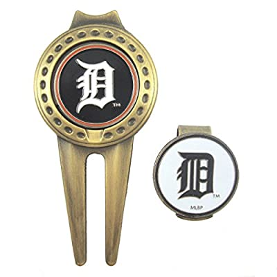 Detroit Tigers Hat Clip & Divot Tool with Golf Ball Markers