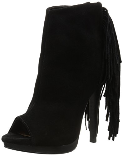 Naughty Monkey Women's Girls Best Fringe Dress Pump Black